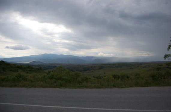 The landscape around Melnik, Bulgaria