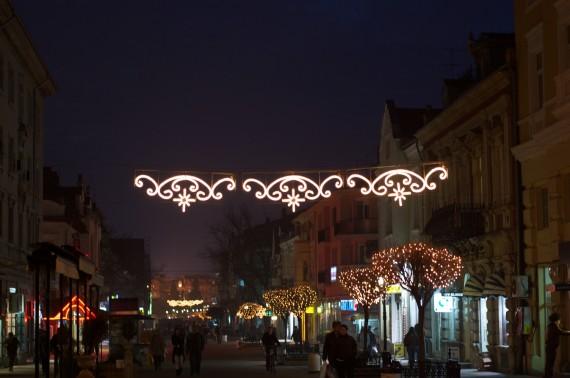 Alexandrovska street in the evening