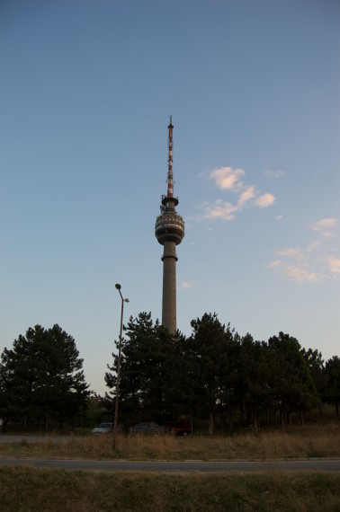 The Rousse TV Tower from up close
