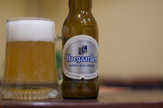 Hoegaarden in a pint