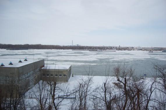 The frozen Danube