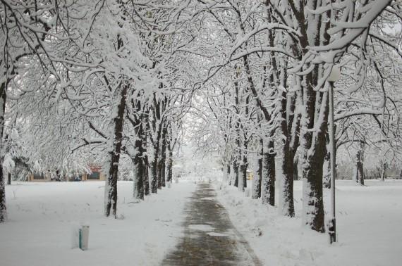 Snowy underpass